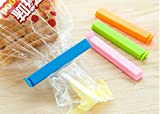 #3: LMS Plastic Bag Sealing Clips, Set of 18, 3 Different Size, Multicolor