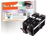 Peach Doppelpack Tintenpatronen schwarz kompatibel zu HP No. 364XL, CN684EE