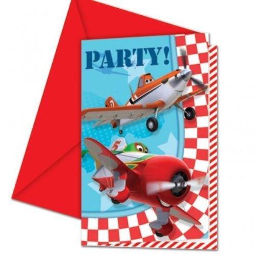 Disney Planes Birthday Party Invitations x 6 Dipper Ice