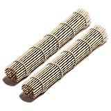 Set of 2 x Bamboo Sushi Mat - For Rolling Sushi - California Rolls etc