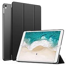 """MoKo Funda para iPad Pro 10.5 pulgada - Ultra Slim Función de Soporte Protectora Plegable Smart Cover Trasera Transparente Durable Para Apple iPad Pro 10.5"""" 2017 Release Tableta, Negro (Auto Sueño / Estela)"""