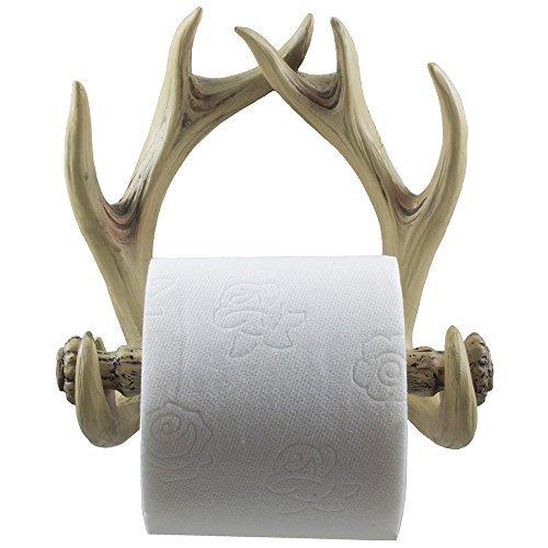 Deko Geweih Deer Toilettenpapierhalter in Verwitterte Look für rustikale Jagen oder Fischen Kabine und Lodge Badezimmer Decor als Geschenke für Buck Jäger -