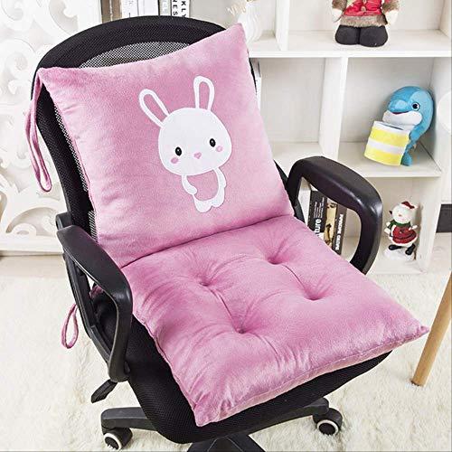 AINIYUE Stuhlkissen für Studenten, Einteilige Rücksitzmatte der Karikatur, Starke Baumwollauflage, für Auto-Büro-Ausgangssofakissen 2pcs / Set 40 * 80cm purpurrote Katze