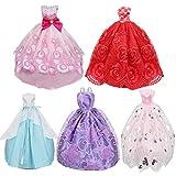 10Stück Kleid Eleganz und Videoleuchte Mini Kleider Strumpfband mit 40Paar verschiedene Schuhe zu High Heels Stiefel Sandale Mehrfarbig Outfit Zubehör für Puppe Geburtstagsgeschenk hergestellt von PG