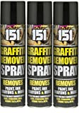 3 x Graffiti Remover Spray Cleaner Aerosol Remove Ink Paint Crayons on Surfaces.