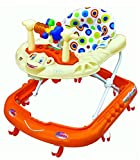 Goyal's Monkey Baby Walker - Music & Light Function With Adjustable Height (Orange)