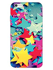 Colorful Stars - Hard Back Case Cover for Apple iPhone 6S - Superior Matte Finish - HD Printed Cases and Covers