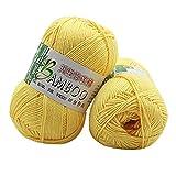sunnymi Super Soft Ball Baby Wolle Garn Häkeln/Bambus Kohle Baumwollgarn/Geschenk/DIY Wolle Garn Strick Wolle/Pullover Hüte Schals Decke/50g (E, Bamboo Cotton Yarn)