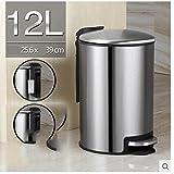 JHBJ basura Latas de basura de acero inoxidable latas de basura latas de basura de cocina Creative basura de basura de la casa de la moda 12L Papelera ( Color : 2 )
