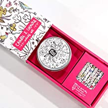 Alicia Souza - Colouring Activity Art Set   Diwali Gift   Adult & Child   10 Colour pencils & 1 scented candle  