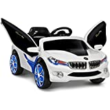 GetBest BMW I8 Concept Battery Operated Ride on Car for Kids with Parental Remote, 2-piece, White
