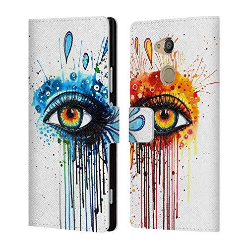 Head Case Designs Offizielle Pixie Cold Feuer Und EIS Augen Brieftasche Handyhülle aus Leder für Sony Xperia XA2 Ultra