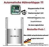 JOSTechnik Automatische Hühnerklappe JT-HK + Steckernetzteil + Klappe - Bestselleraktion vom Hersteller!