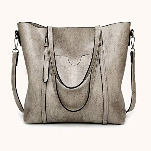 CHQCrossbody Fashion Damen Leder Handtasche Schultertasche hellgrau 32 * 12 * 29CM
