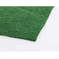 2m x 3m | 3mm Grass Carpet Pile Height Artificial Grass | Cheap Looking Astro Garden Lawn | High Density Fake Turf | 6ft 7in x 9ft 10in
