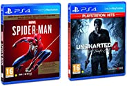 Marvel's Spider Man (PS4) - Game of the Year Edition (PS4) & Uncharted 4: A Thief's End Playstatio