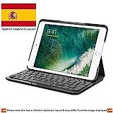 Logitech Mobile Tastatur, aus Canvas, Bluetooth, Spanisch, Schwarz, für Apple iPad mini, iPad mini 2, iPad mini 3, Batterie, kabellos