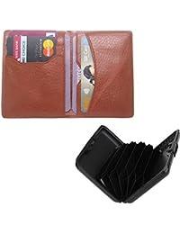 Poland Boys Tan Artificial Leather Card Holder (6 Card Slots)