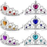 Ouinne 6 Pièces Filles Princesse Couronne, Diadèmes de Strass et Bandeau de Couronnes pour Enfants Fille