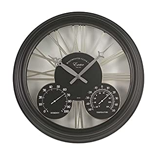 Altuna 5061001 Exeter Clock Thermometer Black