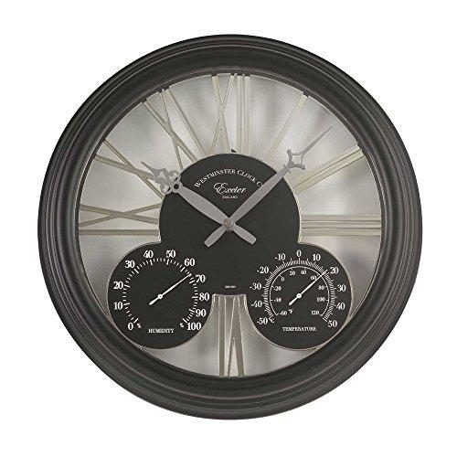 Altuna 5061001Exeter-Uhr + Thermometer schwarz