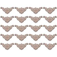 Yibuy 20 armarios de Esquina de Madera tallados Tipo C-15, 1,6 x 1,6 cm