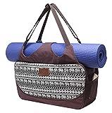 Große Yogatasche »Vimalaa« von #DoYourYoga aus Segeltuch (Baumwoll-Canvas) - aufwendig per Hand verarbeitet, für EXTRA-LANGE und EXTRA-BREITE Yogamatten! Die Yogatragetasche ( Yogabag) ist in sehr schönen Farben und ausgefallenen Designs erhältlich. Ferner eignet sich die Tasche auch für als Sporttasche / Fitnesstasche Farbe: Elefanten