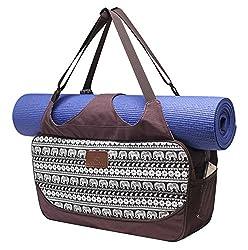 #DoYourYoga Große Yogatasche »Vimalaa Segeltuch (Baumwoll-Canvas), für EXTRA-Lange Yogamatten/Yogatragetasche in schönen Farben und Designs/Auch als Sporttasche geeignet/Farbe: Elefanten
