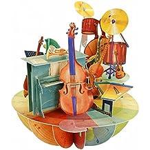 Santoro 3D Pirouette biglietto di auguri–Music
