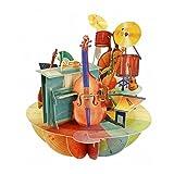 Santoro 3D carte de voeux pirouette - musique