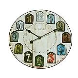 MJB Alfombra Alfombra Retro Alfombra Redonda Reloj de Pared Creativo Alfombra Sala de Estar Alfombra Suave Sala de la computadora Silla Alfombra (Color : Diameter 100CM)