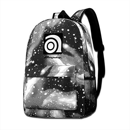Ampeg Amp Galaxy School Backpack,Space School Bag Student Stylish Unisex Laptop Book Bag Rucksack Daypack for Teen Boys and Girls