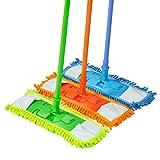 ESYN 2x extensible microfibra piso Mop Limpiador de Sweeper Laminado Baldosa de madera seca mojada