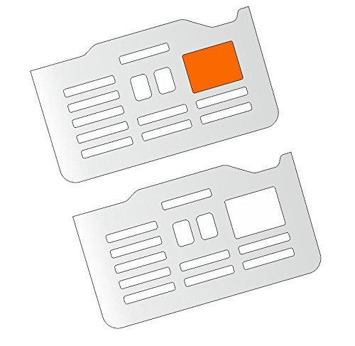 3 x Schutzfolie für DeLonghi PrimaDonna ESAM 6900 M & 6850 - Variante 2 - Abtropfblech -...