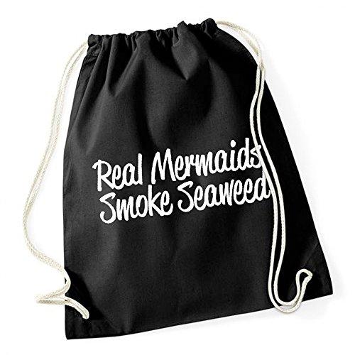 Certified Freak Real Mermaids Smoke See Weed Gymsack Black