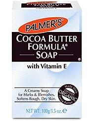 Palmers Savon crémeux au beurre de cacao - Enrichi en vitamine E - Estompe les imperfections - 100 g
