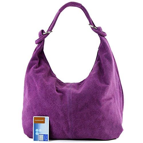 Made Italy, Borsa tote donna Lavendel/Wildleder