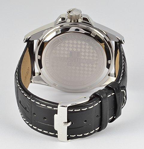 Jacques Lemans Herren Analog Automatik Uhr mit Leder Armband 1-1869A