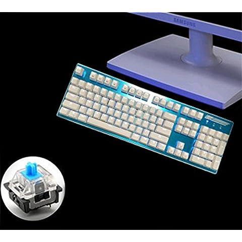 asse verde 104 tasti meccanici lega pannelli collegati gaming tastiera tasti della tastiera senza metallo (Pr Metallo)
