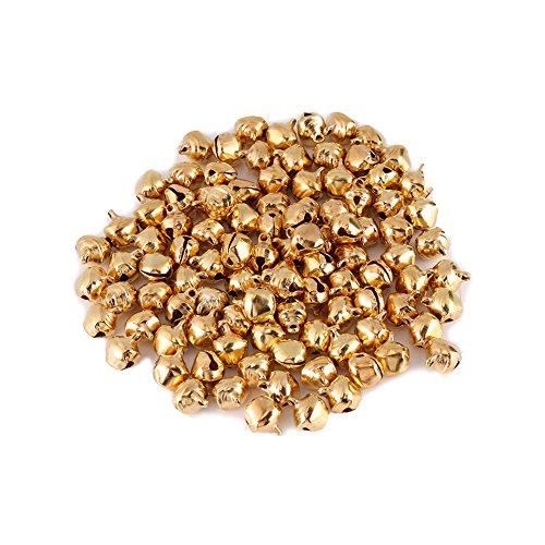 100 Stück Bunte Kleine Jingle Bells Silber Gold -