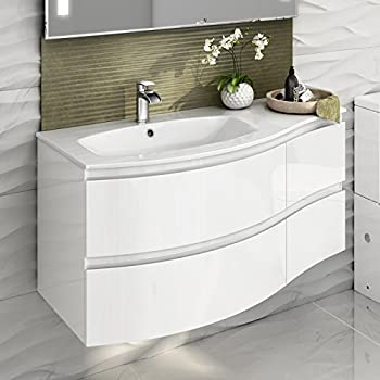1040 mm White Vanity Sink Unit Ceramic Basin Wall Hung Bathroom Furniture1040 mm White Vanity Sink Unit Ceramic Basin Wall Hung Bathroom  . Vanity Sink Units For Bathrooms. Home Design Ideas