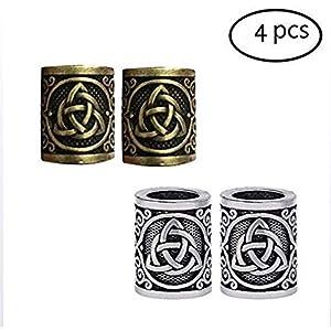 4 Stücke von Metall Nordic Viking Haarperlen Bart Haarring DIY Perlen Celtic Rosenkranzperlen gefunden Armband Anhänger Hals