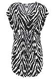 LASCANA Strandshirt mit Animalprint Zebradruck 40/42