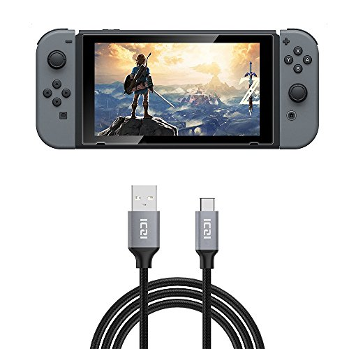 Nintendo Switch Cavo USB C a USB 2.0 di Nailon Intrecciato(3 Metri), Ricarica e Trasmissione Dati per Macbook Pro, Nexus 6/ 5x, Huawei P9 / P9 Plus / Honor 8 / Mate 9/ P10 / P10 Plus, Asus ZenFone 3, LG G5 / G6, One Plus 2 / 3 / 3T, Nintendo Switch e Altri Dispositivi