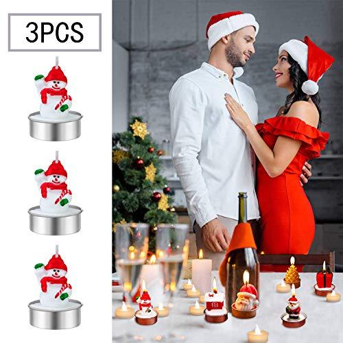 MORFONG - Velas de Navidad, Dibujos Animados, Papá Noel, muñeco de Nieve, Vela, decoración para el hogar