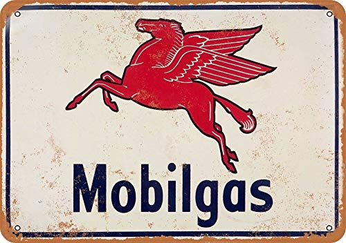 Tiukiu Mobilgas Flying Pegasus Horse Vintage Metal Sign -
