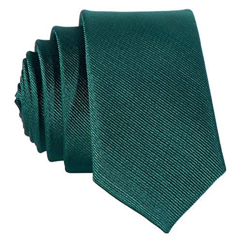 Dondon cravatta uomo verde scuro 5 cm di larghezza