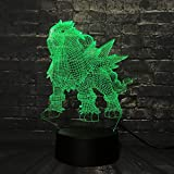 Mddjj 2019 Led Lava Lamp Game Go Action Figure 3D Rgb Lampada Eevee Dragon Pokeball Ball Bulbasaur Bay Role Night Light