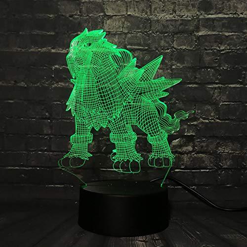 Mddjj 2019 Led Lava Lampe Spiel Go Action Figure 3D Rgb Lampe Eevee Drache Pokeball Ball Bulbasaur Bay Rolle Nachtlicht Schlafzimmer Licht