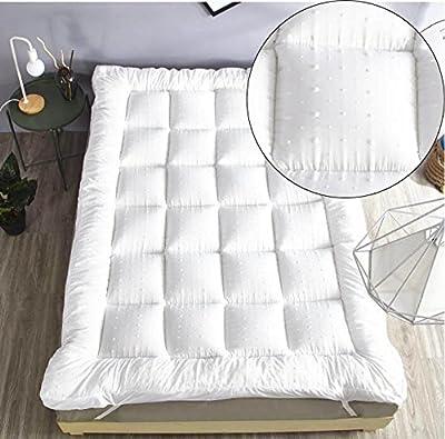 "New""Rejuvopedic"" Microfibre Bed Mattress Topper Protector, Box Stitched & Elasticated Corner Straps"